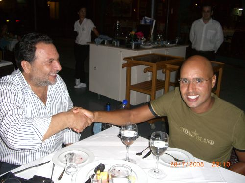 Ο Δήμαρχος Ηρακλείου κ. Γιάννης Κουράκης μαζί με το γιο του Καντάφι κο Saif Al Islam.
