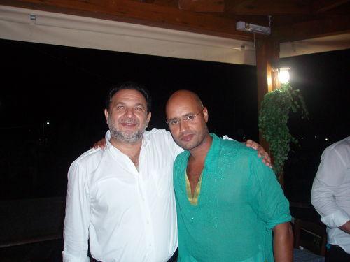 Ο Δήμαρχος Ηρακλείου κ. Γιάννης Κουράκης μαζί με το γιο του Καντάφι κο Saif Al Islam