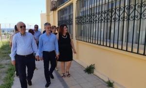 Τις εργασίες στο σχολικό συγκρότημα Τάλως είδε ο Δήμαρχος Ηρακλείου Β. ΛαμπρινόςΑυτοψία στις εργασίες συντήρησης που ολοκληρώθηκαν πρόσφατα στο σχολικό συγκρότημα Τάλως (11ο Γυμνάσιο – 13ο Γενικό Λύκειο) πραγματοποίησε το πρωί της Πέμπτης 21ης Ιουνίου ο Δήμαρχος Ηρακλείου Βασίλης Λαμπρινός.