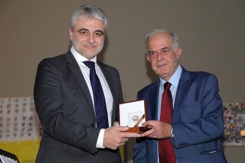 Δήμαρχος Ηρακλείου Βασίλης Λαμπρινός - Πρόεδρος του ΙΤΕ Νεκτάριος Ταβερναράκης