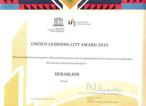 UNESCO LEARNING CITY AWARD 2019