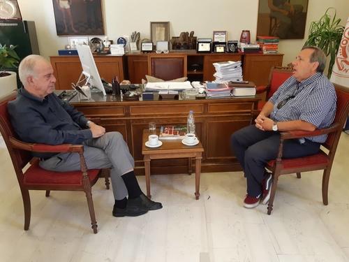 Δήμαρχος Ηρακλείου Βασίλης Λαμπρινός - Αεριλιμενάρχης Γιώργος Πλιάκας