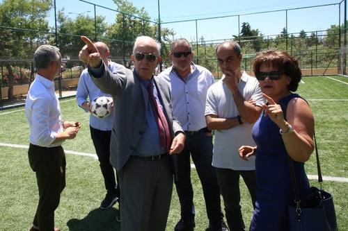 Στο ανακαινισμένο Δημοτικό Αθλητικό Κέντρο Κατσαμπά ο Δήμαρχος Ηρακλείου Βασίλης Λαμπρινός