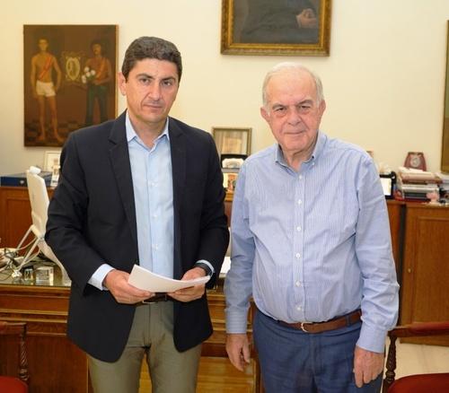 Δήμαρχος Ηρακλείου Βασίλης Λαμπρινός - Υπογραφή Μνημονίου Συνεργασίας με Λευτέρη Αυγενάκη